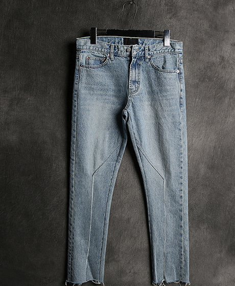 P-6780INCISION MIXED DAMAGED DENIM PANTS절개 믹스 데미지 데님 팬츠Color : 1 colorMaterial : denim