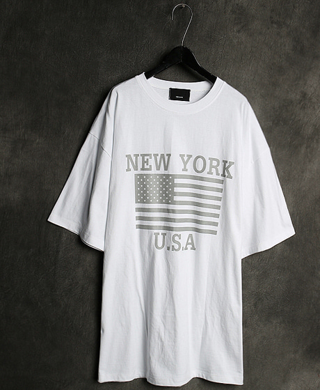 T-12706LIGHT STARS AND STRIPES PRINTING T-SHIRT라이트 성조기 프린팅 티셔츠Color : 3 colorMaterial : cotton