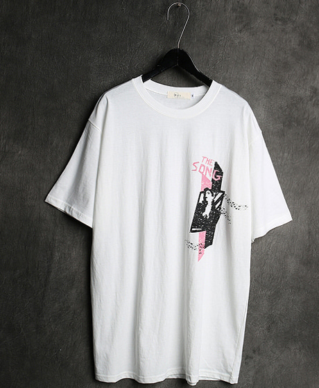 T-12985THE SONG PRINTING T-SHIRT더 송 프린팅 티셔츠Color : 2 colorMaterial : cotton