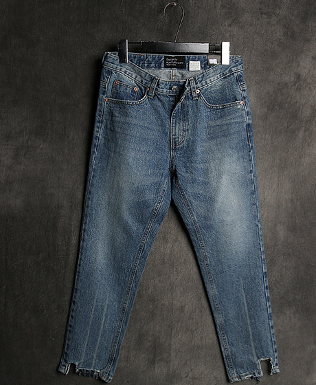 P-7863UNBALANCE CROP DENIM PANTS언밸런스 크롭 데님 팬츠Color : 1 colorMaterial : denim
