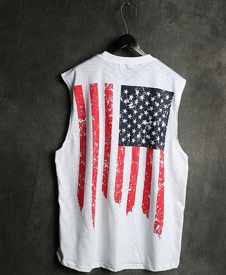 T-13112STARS & STRIPES PRINTING NASI TEE성조기 프린팅 나시티Color : 2 colorMaterial : cotton