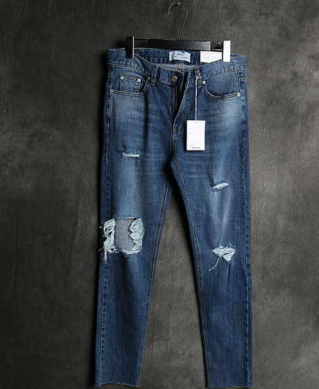 P-7968DAMAGED DENIM PANTS데미지 데님 팬츠Color : 1 colorMaterial : denim