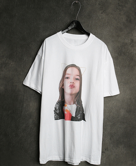 T-13128IMAGE PRINTING T-SHIRT이미지 프린팅 티셔츠Color : 2 colorMaterial : cotton