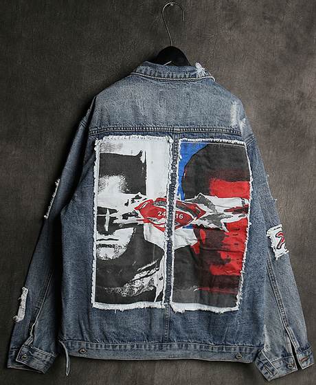 JK-8963BATMAN DENIM JACKET베트맨 데님 자켓Color : 1 colorMaterial : denim