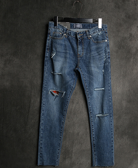 P-8010CHECK DENIM PANTS체크 데님 팬츠Color : 1 colorMaterial : denim