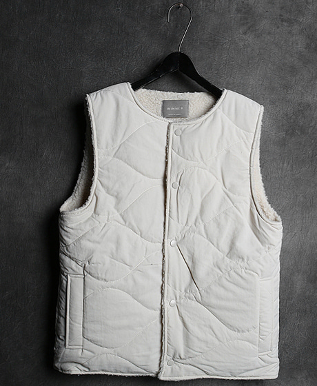 JK-10111BOTH SIDES VEST JACKET양면 조끼 자켓Color : 2 colorMaterial : wool/cotton