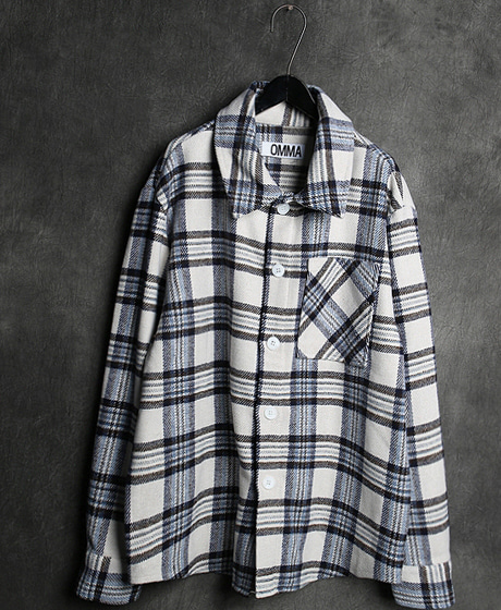 S-2268WOOL CHECK PATTERN SHIRT울 체크 패턴 셔츠Color : 2 colorMaterial : wool