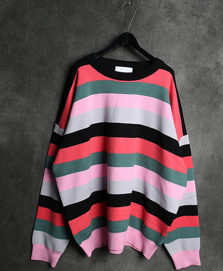 T-14128COLOR MIXED SWEATER컬러 믹스 스웨터Color : 2 colorMaterial : sweater