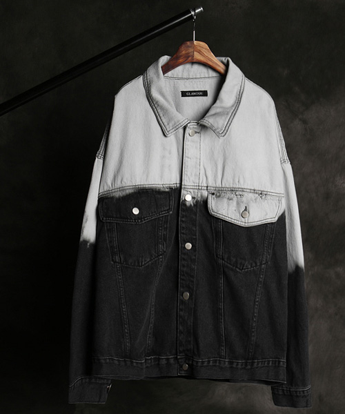 JK-15458color scheme denim jacket