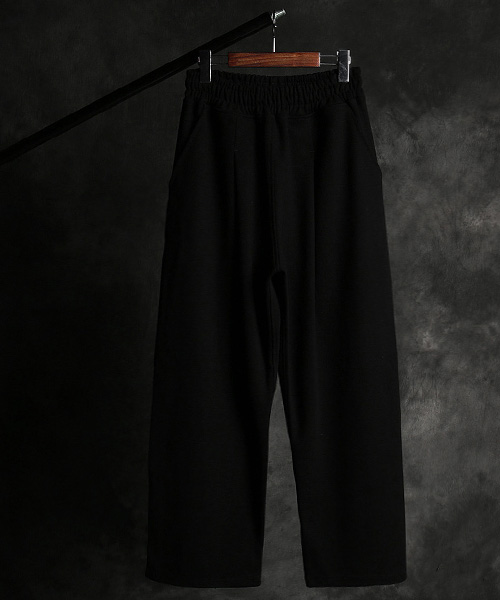 P-10660banding wide pants