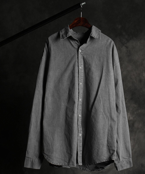 S-2933pigment regular shirt